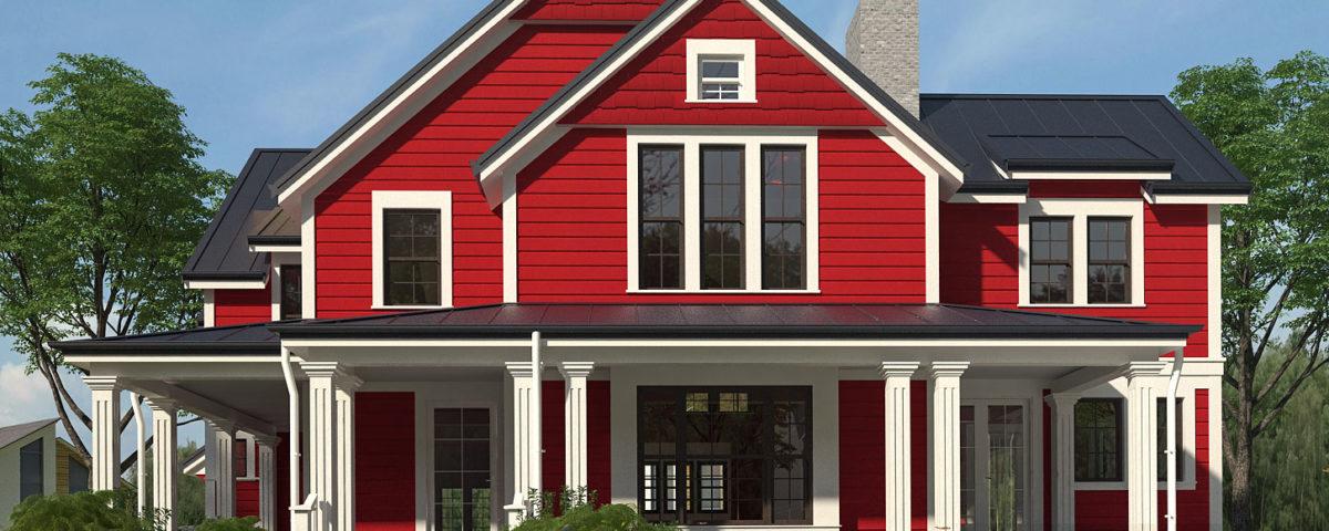 візуалізація класичного американського будинку